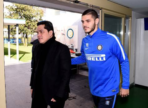 Thohir con Icardi alla Pinetina ©Getty Images
