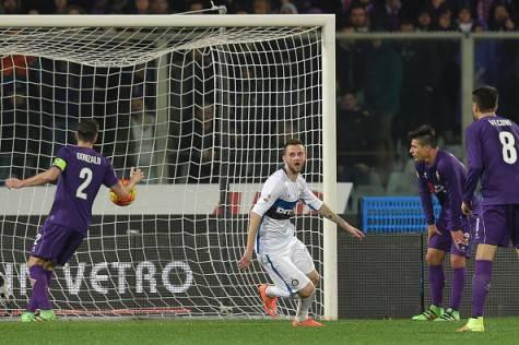 Fiorentina-Inter 2-1, Brozovic realizza il momentaneo vantaggio ©Getty Images