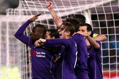 Babacar festeggiato dopo il gol che ha steso l'Inter ©Getty Images