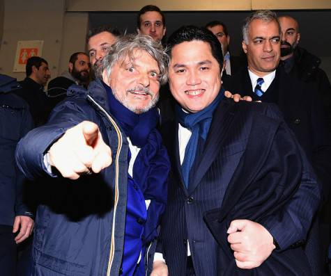 Thohir e Ferrero prima di Inter-Sampdoria ©Getty Images