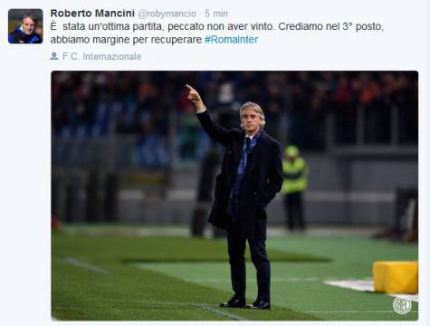 il tweet di Mancini