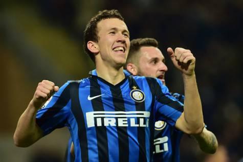 Inter-Bologna 2-1, Perisic festeggia dopo il gol ©Getty Images