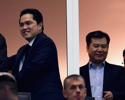 Inter, Thohir e il Ceo del Suning Zhang Jindong al 'Meazza' ©Getty Images