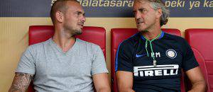 Sneijder con Mancini ©Getty Images