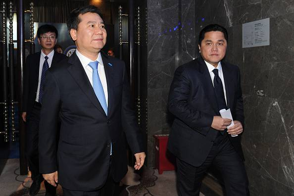 Inter, Thohir e Zhang Jindong ©Getty Images