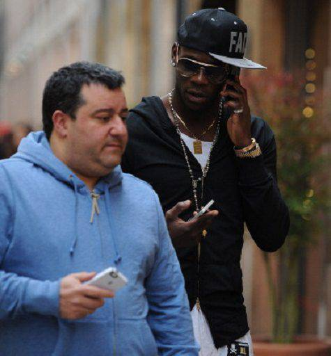 Raiola e Balotelli ©Getty Images