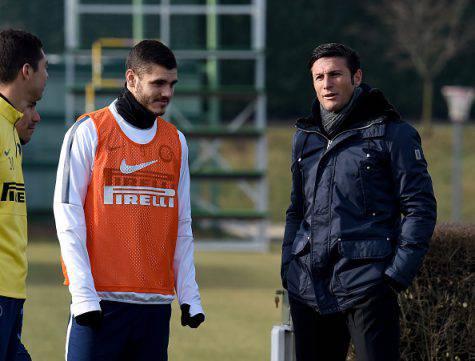 Inter, Zanetti con Icardi alla Pinetina ©Getty Images