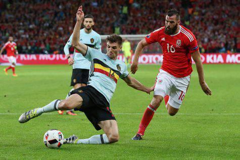 Inter, Thomas Meunier in azione con la maglia del Belgio ©Getty Images