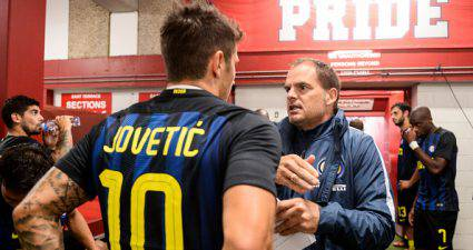 Jovetic con Frank de Boer ©Getty Images