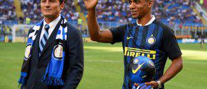 Joao Mario al 'Meazza' di fianco a Zanetti ©Getty Images