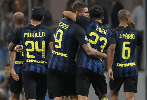 Inter-Juventus 2-1, i nerazzurri festeggiano (Getty Images)