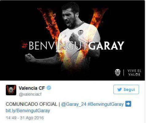 Inter, è ufficiale: Garay al Valencia ©Getty Images