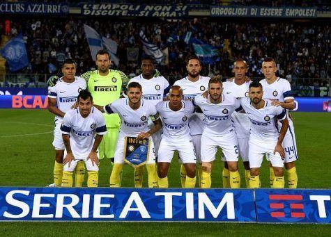 Empoli-Inter 0-2, la squadra nerazzurra (Getty Images)