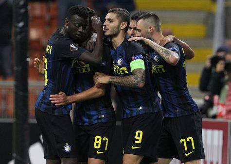 Inter-Southampton 1-0, i nerazzurri festeggiano (Getty Images)