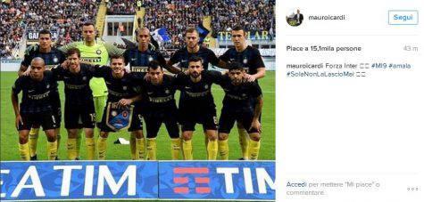 Il secondo post di Icardi su Instagram