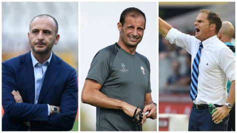 Ausilio, Allegri e De Boer - Getty Images