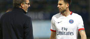 Thiago Motta e Laurent Blanc ©Getty Images