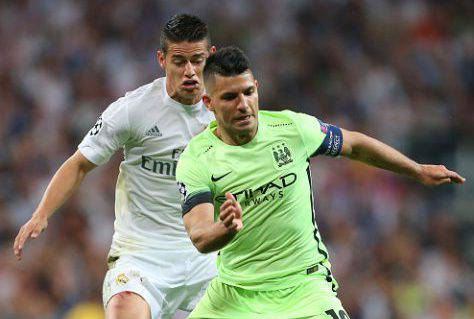 Inter, James Rodriguez contro Aguero - Getty Images