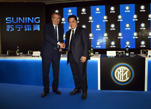 Inter, Thohir e Moratti ©Getty Images