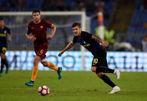 Inter, Jovetic in azione contro la Roma - Getty Images