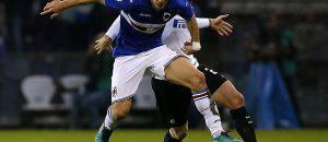 Sampdoria-Inter 1-0, Santon in azione ©Getty Images