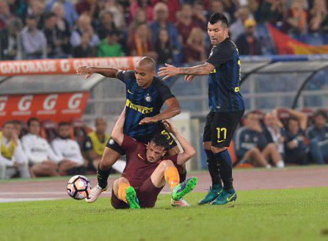 Roma-Inter 2-1, Joao Mario e Medel (Getty Images)