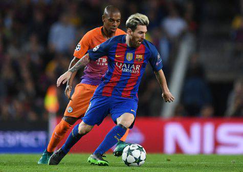Messi in azione col Barcellona - Getty Images