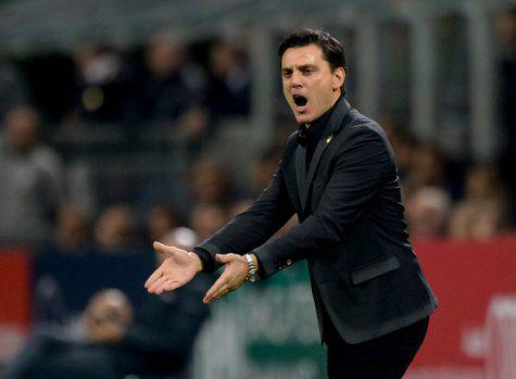 Milan-Inter 2-2, le parole di Montella (Getty Images)