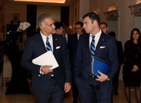 Inter, Michael Gandler con l'ex Ceo Bolingbroke (Getty Images)