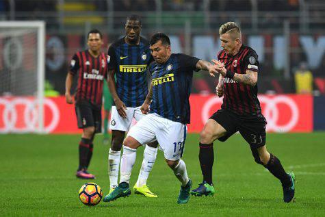Inter, Medel in azione nel derby - Getty Images