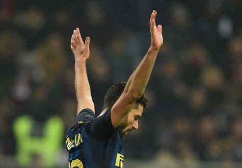 Inter, Candreva esulta dopo il gol nel derby (Getty Images)