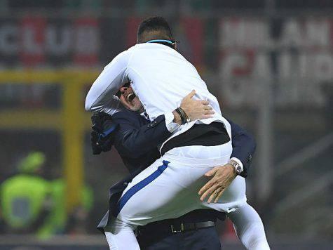 Gabigol abbraccia Pioli Getty Images)