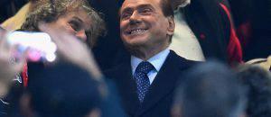 Berlusconi al 'Meazza' in occasione del derby (Getty Images)
