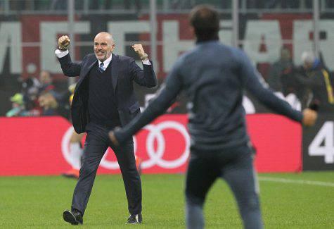 Inter, Stefano Pioli esulta per il 2-2 nel derby - Getty Images