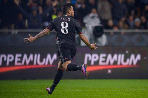 Suso, doppietta nel derby (Getty Images)