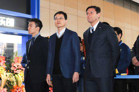 Inter, Zanetti con Jun Liu e Steven Zhang - Getty Images