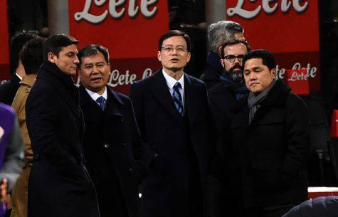 Inter, Zhang a San Siro con Zanetti, Jun Liu e Thohir - Getty Images
