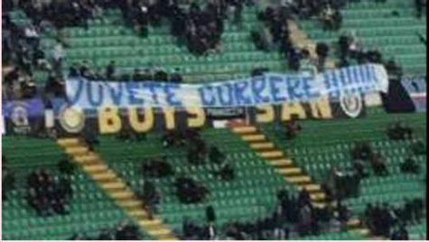 Inter, striscione Curva Nord ©gazzetta.it