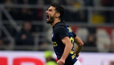 Candreva esulta per il gol nel derby (Inter.it)