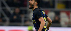 Inter, Candreva esulta per il gol nel derby (Inter.it)