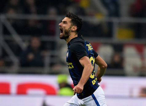 Candreva esulta per il gol nel derby (Inter.it)
