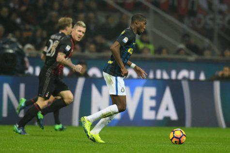 Kondogbia in azione nel derby / Inter.it