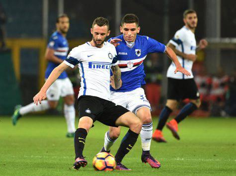 Torreira contro Brozovic in Sampdoria-Inter - Getty Images
