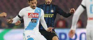 Ranocchia in azione contro il Napoli - Getty Images