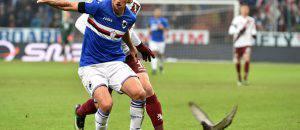 Pereira in azione con la maglia della Sampdoria (Getty Images)