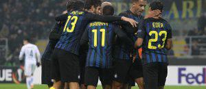 Inter-Sparta Praga 2-1, l'esultanza dei nerazzurri (Getty Images)