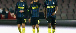 Inter, i calciatori dopo la sconfitta col Napoli (Getty Images)