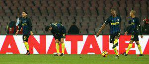 Napoli-Inter 3-0, i giocatori nerazzurri (Getty Images)