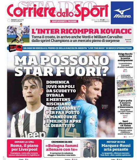 Corriere dello Sport: i titoli sull Inter