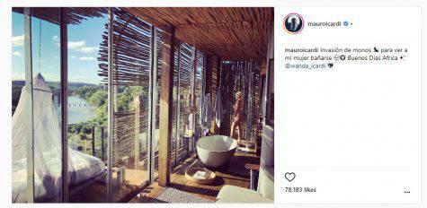 Instagram, Icardi fotografa Wanda Nara sotto la doccia